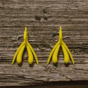 bCurious Klitta-korvakorut, keltainen