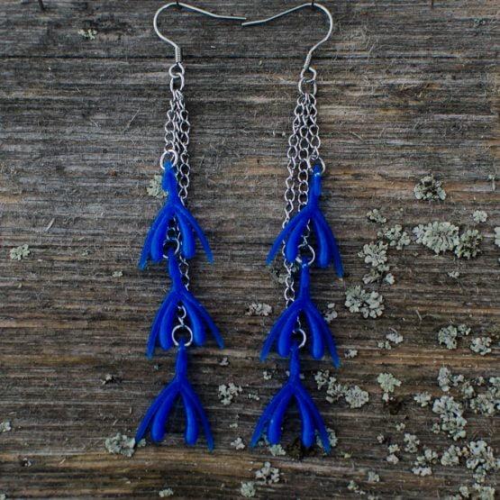 Klitta-ketjukorvakorut sininen