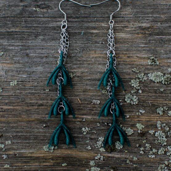 Klitta-ketjukorvakorut vihreä, glitter