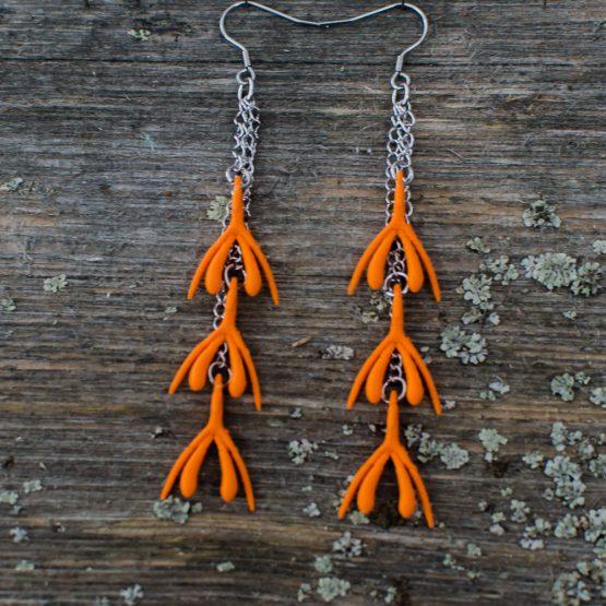 Klitta-ketjukorvakorut oranssi